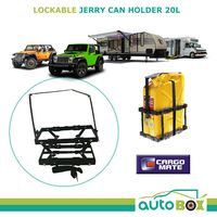 4WD Lightweight Lockable Jerry Can Holder 20L Caravan Camper Motorhome RV