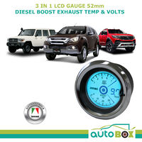 Diesel Boost Exhaust Volts 52mm Gauge Combo LCD 4WD EGT Autotecnica