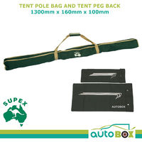 Supex Tent Pole Bag and Tent Peg Back - 1300mm x 160mm x 100mm