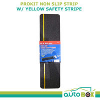 NON SLIP STEP SAFETY STRIP WITH YELLOW STRIPE BOAT CARAVAN CAMPER DECK RAMP