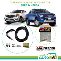 Piranha 4WD Diff Breather Kit Offroad Ford PX Ranger / Mazda BT50 + adaptor