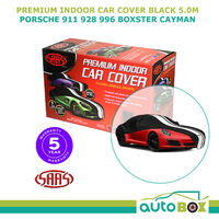 SAAS INDOOR SHOW CAR COVER PORSCHE 911 928 996 BOXTER CAYMAN fits 5.0m Black