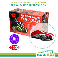 SAAS Premium Indoor Classic Car Cover Extra Large 5.7M Red with White Stripe