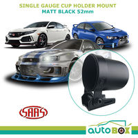 "Gauge Cup Holder Mount for 52mm 2"" Gauge Matt Black SAAS Universal Pod"