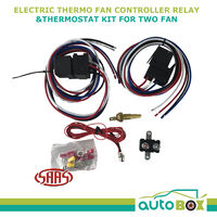 SAAS Electric Thermo 2 X Fan Controller Relay & Thermostat Kit On 85c Off 76c