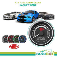 SAAS Air Fuel Ratio Gauge 52mm Black Muscle Series Narrow Band Rich Lean