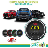 SAAS DIGITAL TURBO TIMER 52MM GAUGE BLACK FACE 4 COLOUR - Performance EVO 4WD