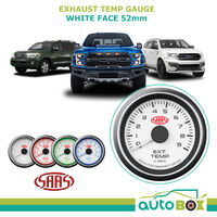 SAAS 0-900 Degrees Exhaust Temperature Gauge 52mm EGT Pyro White Dial Face 4WD