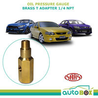 Oil Pressure Gauge Adapter 1/4 NPT Brass SAAS T Piece Sender Falcon BA BF FG 6/8