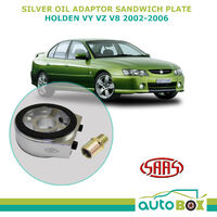 SAAS Oil Adaptor Sandwich Plate for VY VZ V8 2002 to 2006 Oil Pressure Oil Temp