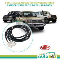 SAAS Trax 2-in-1 Gauge Quick Fit Power Harness for Toyota 70 75 78 79 1985-2009