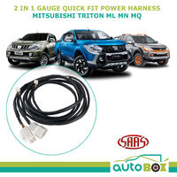 SAAS Trax 2-in-1 Gauge Quick Fit Power Harness for Mitsubishi Triton ML MN MQ