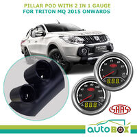 Pillar Pod suits Mitsubishi Triton MQ 2015 Onward w/ 2in1 Digital Analogue Gauge