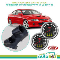 Pillar Pod w/ 2 in 1 Digital Trax Gauge VT VX VY VZ Holden Commodore 1997-2006