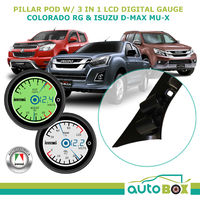 Dual Pillar Pod w/ 3in1 LCD Digital Gauges for Colorado D-Max MU-X 2012-2016