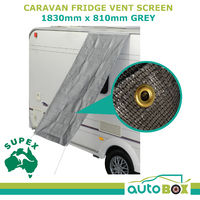Caravan Fridge Vent Screen Shade 1830 x 810mm w/ Pegs & Ropes Camping Outdoor RV