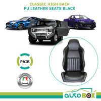 Autotecnica PU Leather Sports Bucket Seats - Brand New Car Ute 4WD