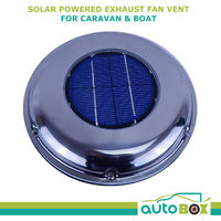 Solar Powered Caravan Boat Exhaust Fan Air Vent Rechargeable Battery External