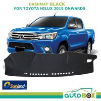 Sunland Black DashMat for Toyota Hilux 2015 onwards All Model Dash Mat Cover