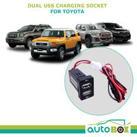 Dual USB Charger spare switch socket for Toyota FJ Cruiser Hilux Prado LC Kluger