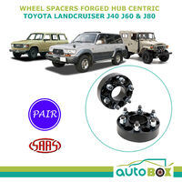 SAAS Wheel Spacer 50mm 6 Stud 139.7 PAIR Hub Centric for Landcruiser J40 J60 J80