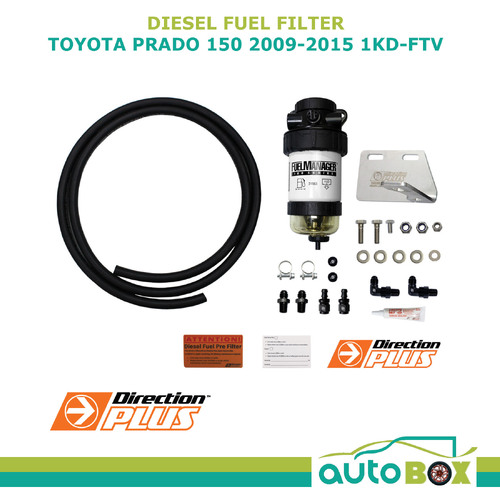 DIESEL FUEL FILTER WATER SEPARATOR Pre-Filter for TOYOTA PRADO 150 2009-2015 TD