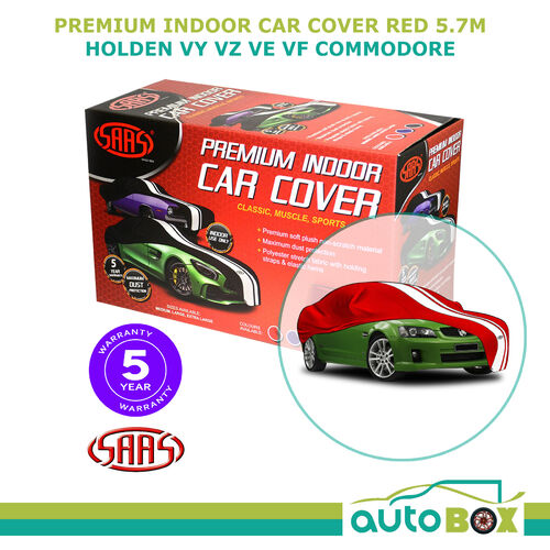 SAAS Indoor Show Car Cover x-Large suits Holden VY VZ VE VF Commodore Red 5.7m